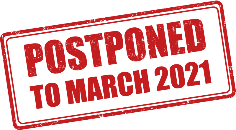 Postponed to March 2020